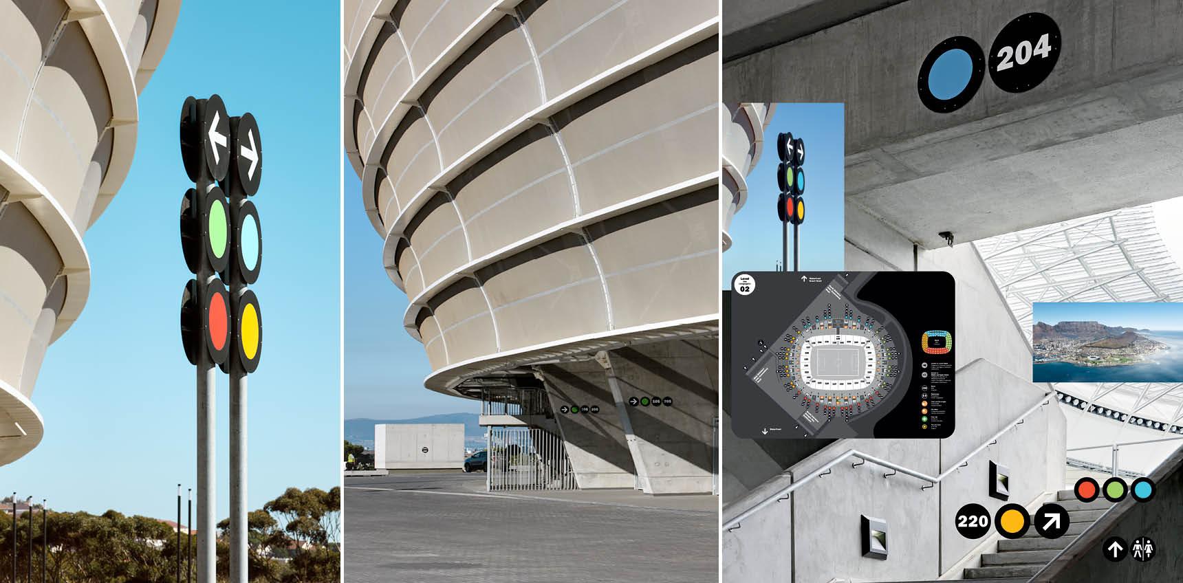 Green Point Stadium Cape Town; Visuelle Kommunikation: Wangler & Abele Architektur: gmp Architekten, Berlin, Point Architects & Urban Designers, Cape Town; Fotograf: Marcus Bredt, Berlin