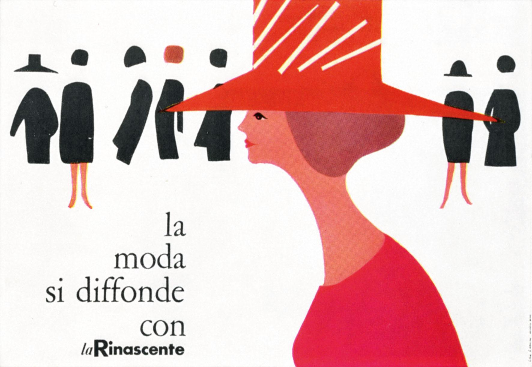 Lora Lamm: Plakate und Anzeigen für das Kaufhaus »La Rinascente«, um 1959