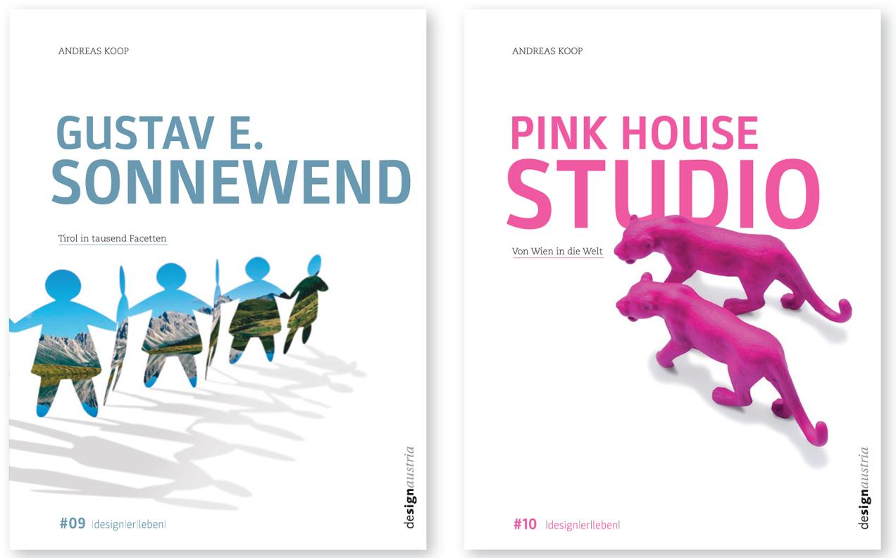 #09 »Gustav Sonnewend. Tirol in tausend Facetten« und #10 »Pink House Studio (Herwig Laggner, Raimund Mair). Von Wien in die Welt«