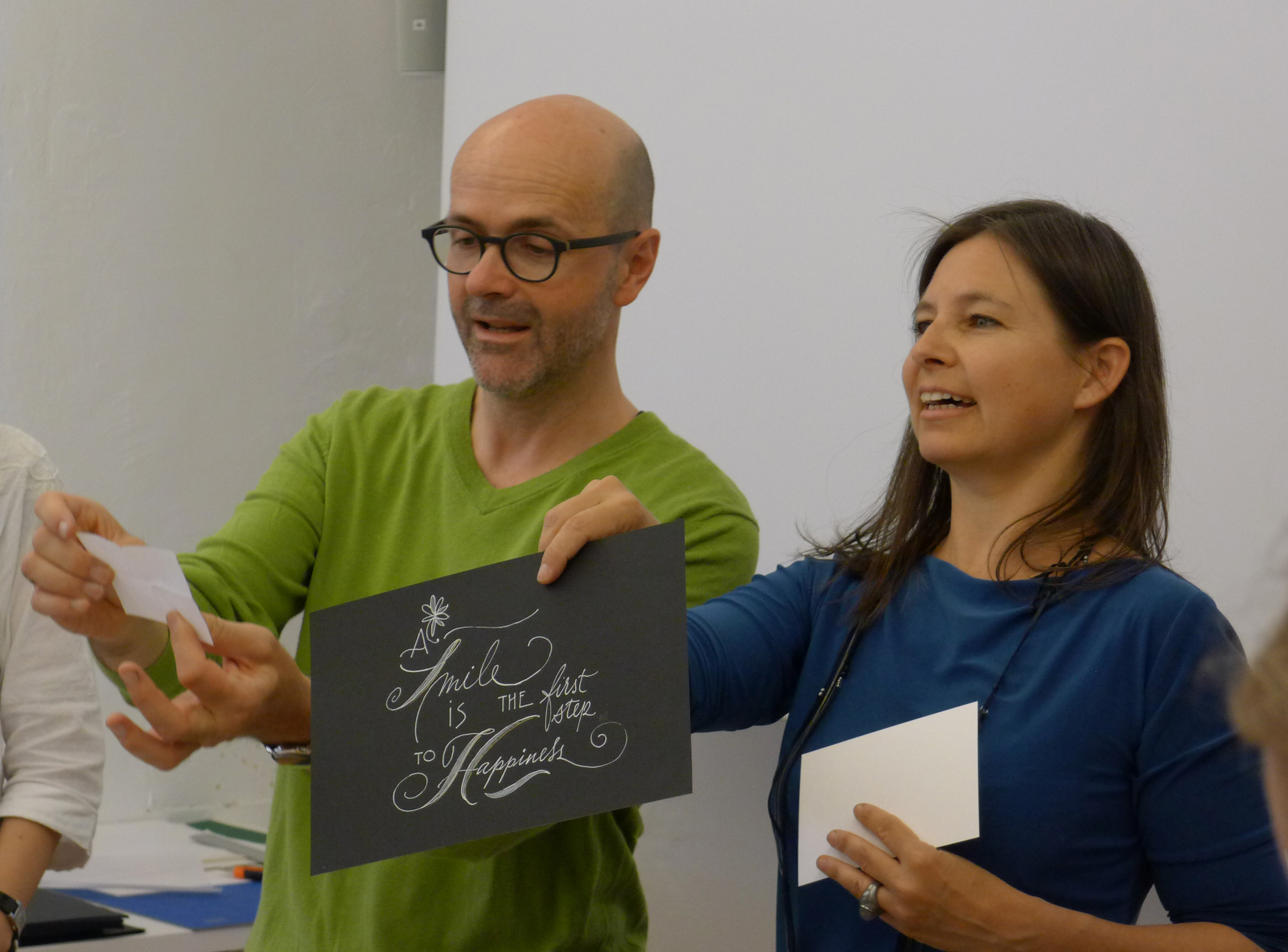 Workshop Handlettering mit Petra Wöhrmann und Roland Stieger