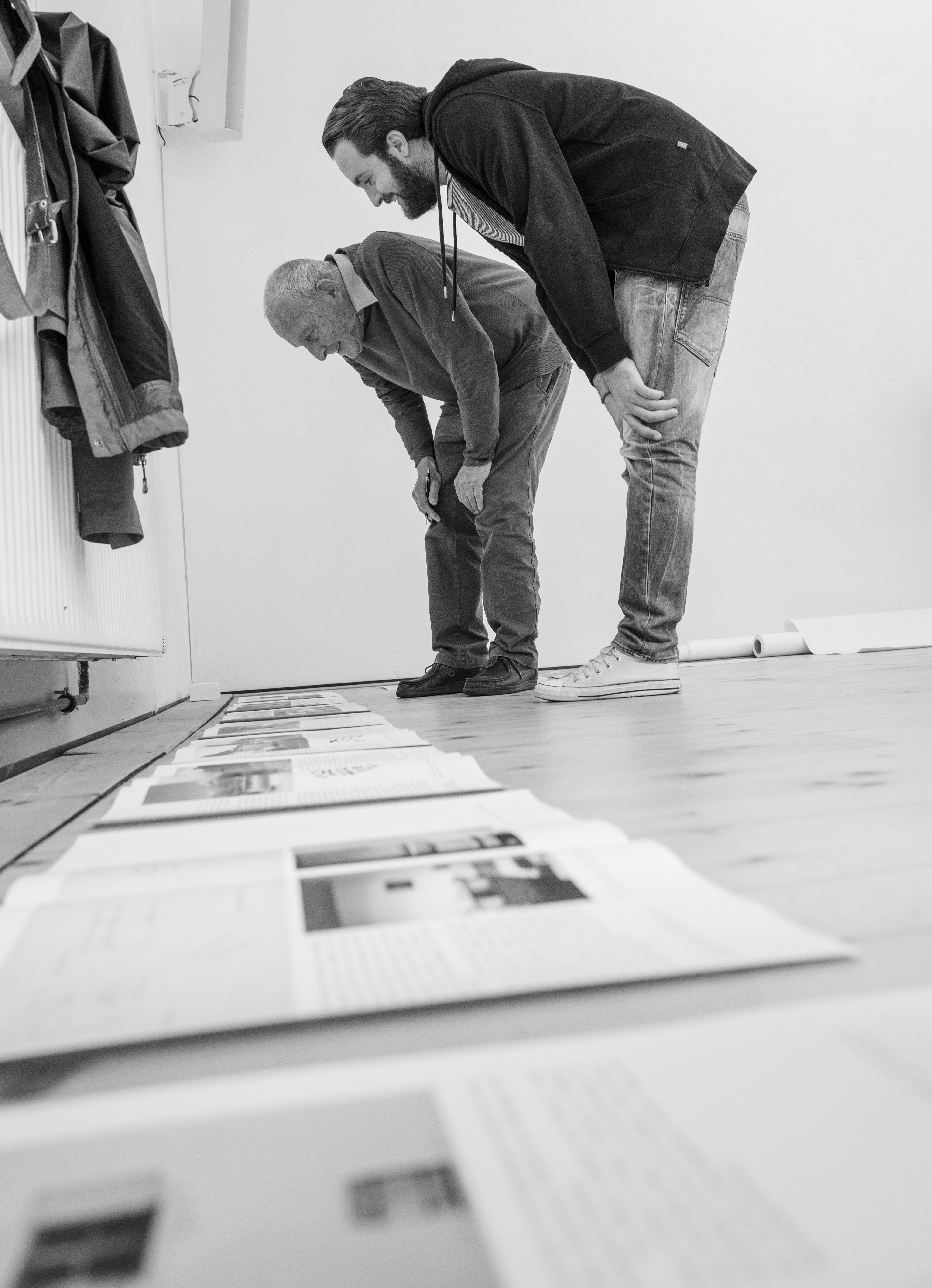Workshop Buchgestaltung mit Jost Hochuli (Foto: Manuel Kreuzer)