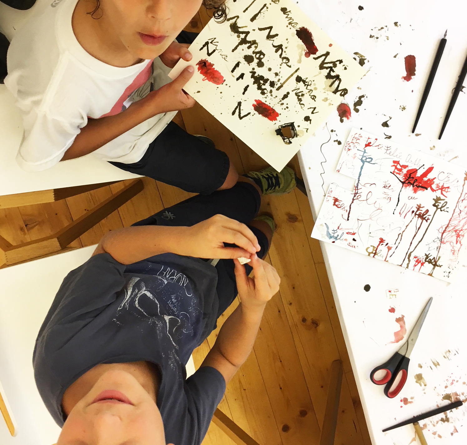 Workshop GrafiKIDS – Experimentelle Kalligrafie