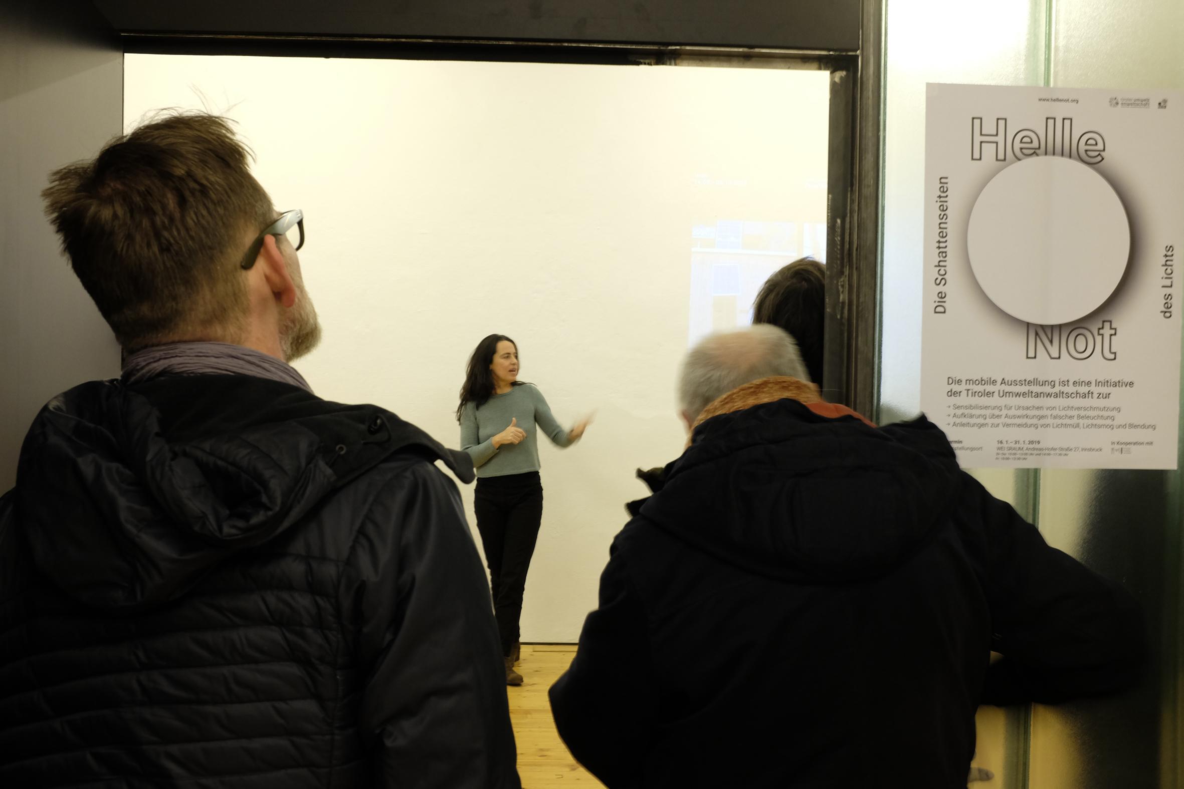 Ausstellung Helle Not der Umweltanwaltschaft Tirol