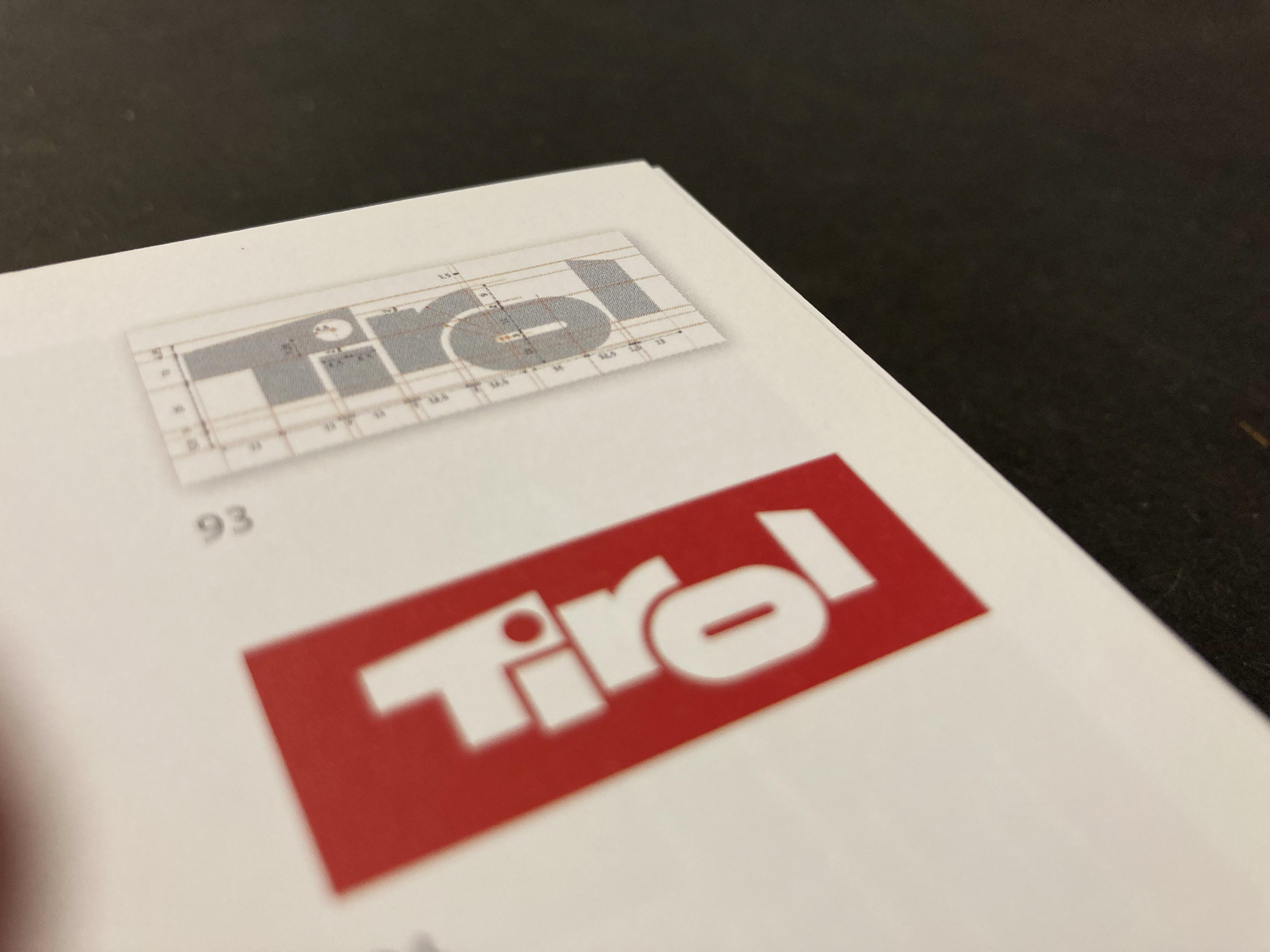 Das von Arthur Zelger entworfene Tirol-Logo